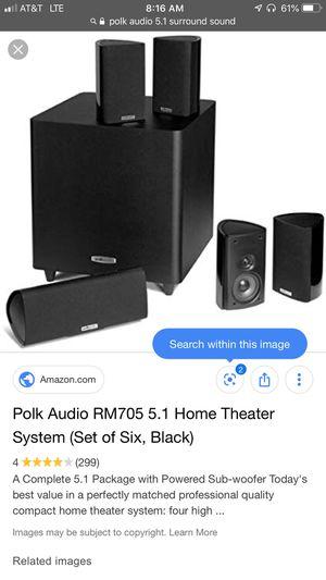 Polk audio surround sound with sub for Sale in Redlands, CA