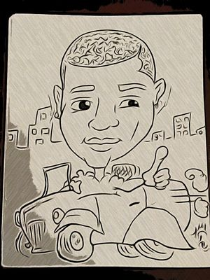 Caricature of Young Joc for Sale in Albany, CA