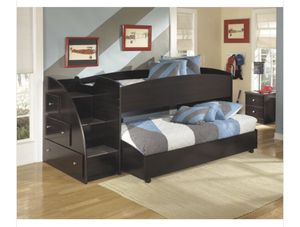 Ashley twin bed. WITH OUT bottom bed trunk for Sale in Sanger, CA