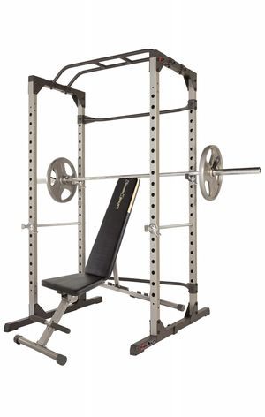 Olympic Power Cage Squat Rack & Adjustable Bench COMBO - 800 lb weight Capacity Reality Fitness for Sale in Fort Lauderdale, FL