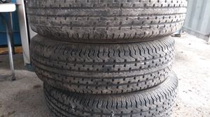 Trailer tires like new 10ply heavy duty for Sale in Miami, FL