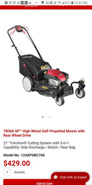 Troy Bilt Self Propelled Lawn Mower TB360XP for Sale in Virginia Beach, VA