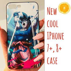 New cool iphone 7+ or iphone 8+ PLUS case rubber mens guys womens Goku dragon ball z super saiyan anime hypebeast hype swag for Sale in San Bernardino, CA