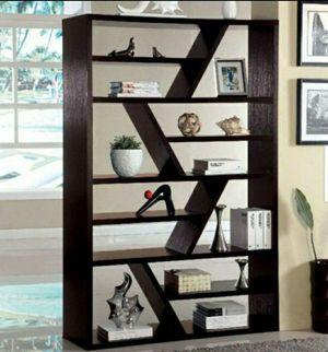 71 in. Espresso 12-shelf Standard Bookcase with Open Back for Sale in Chino, CA