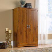 Sauder Harvest Mill Computer Armoire, Abbey Oak for Sale in Hilliard, OH