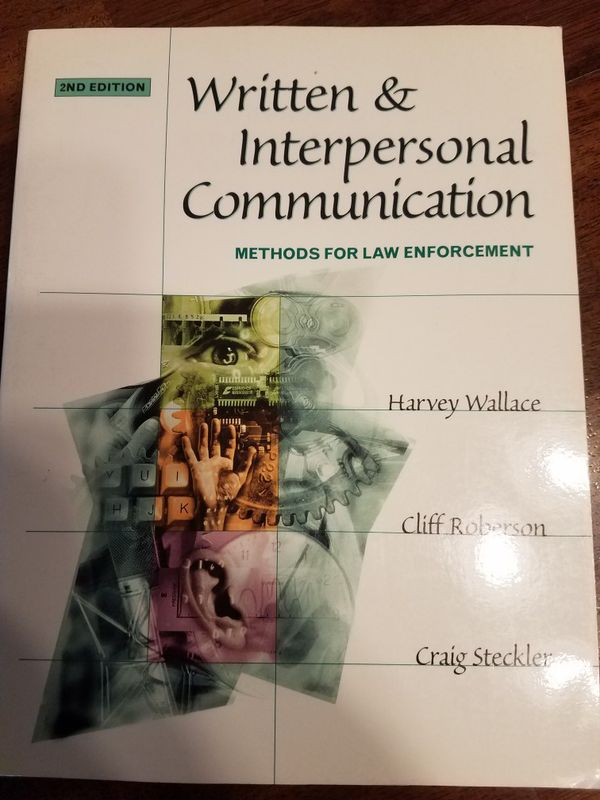 Written and Interpersonal Communication Methods for Law Enforcement