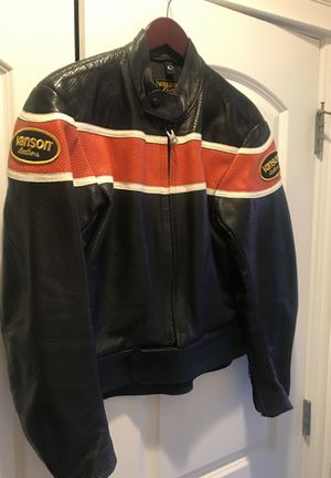 Vanson Leathers Motorcycle Jacket Size 44. for Sale in Chicago, IL