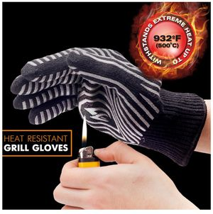 Extreme Heat Resistant BBQ Gloves – Highest Heat Grill Gloves Up To 932°F Resistant - Premium Insulated – Cooking, Frying, Grilling Gloves with Bonus for Sale in Miami Beach, FL