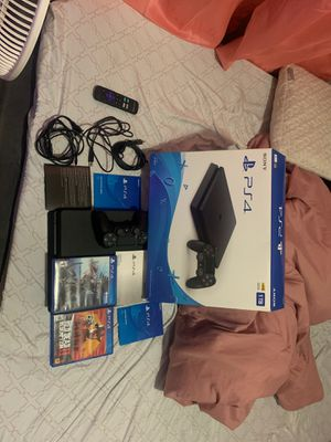 Ps4 slim 1tb ☺️ with all cords perfect condition 290$ firm don't miss out 2 games for Sale in Miami, FL