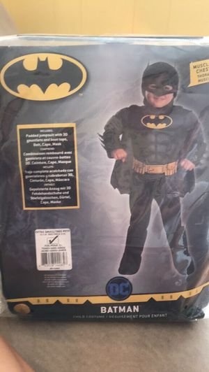 Batman Halloween costume - toddler up to age 5 for Sale in Lorton, VA