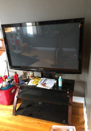 """50"""" Panasonic Tv and stand for Sale in Baltimore, MD"""