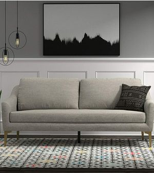 """Rivet Alonzo Contemporary Mid Century Modern Sofa Couch, 80""""W, Grey for Sale in Glendale, AZ"""