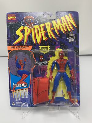 Vintage Spider-Man w/ Web Parachute Action Figure from the 90's Spider-Man The Animated series (Brand New) for Sale in Washington, DC