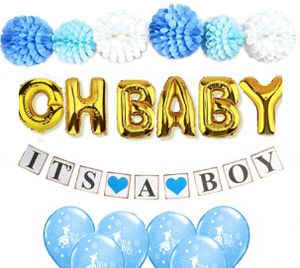 Baby shower decorations for boy blue and silver for Sale in Butterfield, MO
