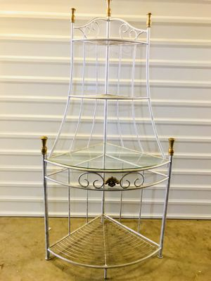 Large iron corner bakers rack for Sale in Lewisville, TX