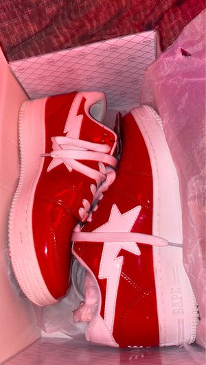 BAPE SHOES (VINTAGE) streetwear (red & white color way) SIZE 9 for Sale in Gaithersburg, MD