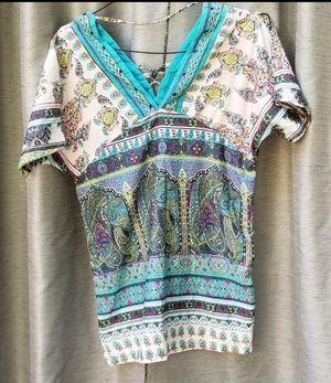 NEW GREEN MULTI SHORT SLEEVE DRESS SMALL for Sale in Marietta, GA