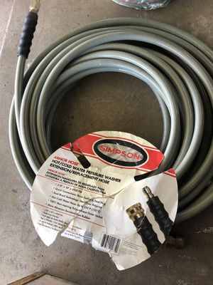 "Simpson Armor 50-Foot (3/8"") 4500 PSI Replacement / Extension Hose w/ Quick Connectors (Hot / Cold Water) for Sale in CORP CHRISTI, TX"