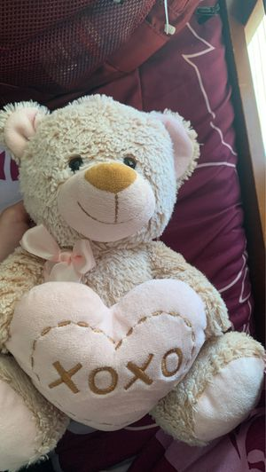 Beige and Pink Teddy bear for Sale in Palmdale, CA