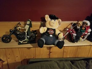 Animatronic Harley-Davidson Riders and official stuffed Harley Pig for Sale in Bridgewater, MA