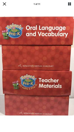 Splash into pre-k homeschool pre-school curriculum bilingual for Sale in Fresno, CA