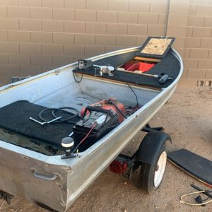 Fishing boat 12.5ft with trailer for Sale in Waddell, AZ