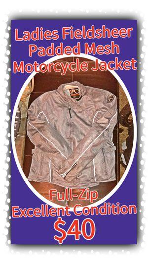 Ladies Fieldsheer Padded Mesh Motorcycle Jacket, Size: 16 for Sale in Tacoma, WA