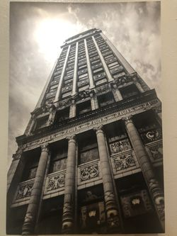 Wurlitzer building Detroit photograph. Metallic print for Sale in Golden,  CO