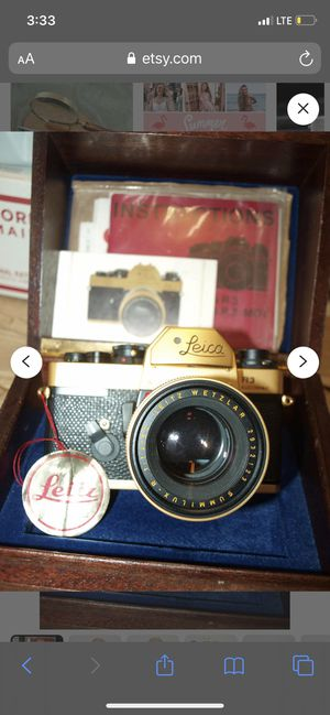 Leica r3 gold camera for Sale in Queens, NY
