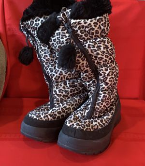 Pajar Women's Cheetah Snow Boots 🖤 NWOT Size 10 Worn once! EUC for Sale in Pembroke Pines, FL