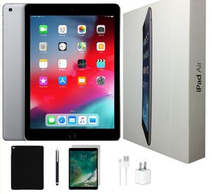 Apple iPad Air Bundle | 32 GB Space Gray -Wi-Fi Only -Tempered Glass, Case, Stylus Pen & Charger for Sale in Miami, FL