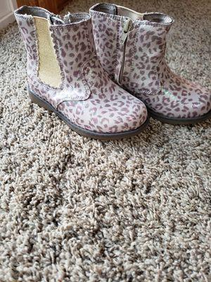 Skechers cheetah rainbow glitter print toddler boots size 8 for Sale in Spokane, WA
