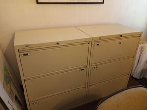 Three drawer lateral filing cabinets for Sale in Visalia, CA