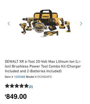 Brand new DeWalt 6 Tool XR 20 volt brushless power tool combo kit for Sale in Orlando, FL