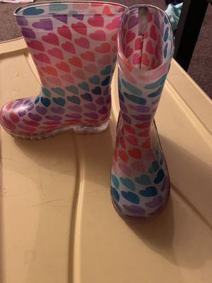 Kids light up rain boots size 8 for Sale in Houston, TX