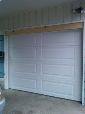 6'x9' Aluminum insulated garage door, all parts, and Genie Pro opener for Sale in SeaTac, WA