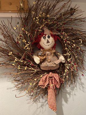 Country Raggedy Ann Wreath for Sale in Suffolk, VA
