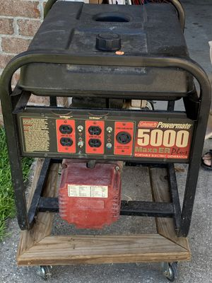 Coleman powermate 5000 home generator for Sale in Gulf Breeze, FL