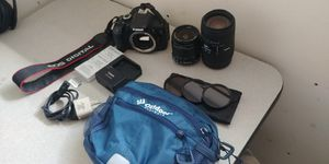 Canon EOS 600D / Rebel T3i bundle 2 lens, 3 batteries & 64gb SD card with case for Sale in UPPR CHICHSTR, PA