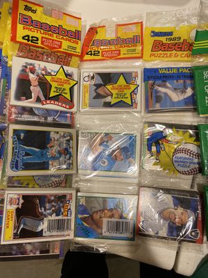 Unopened Baseball Rack Packs 1986 thru 1990 ~ 500 cards for Sale in Hudson, MA