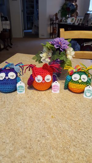 crochet baby owl.sleepy owl. for Sale in Manassas, VA