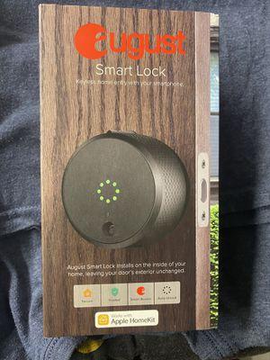 August Smart Door Lock (2nd Gen) Dark Gray for Sale in Boston, MA
