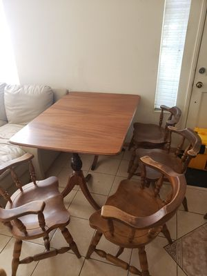 Wood table with 6 chairs 100.00 OBO for Sale in Corona, CA