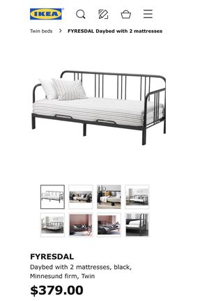 IKEA DAYBED FRAME W/TWO TWIN MATTRESSES for Sale in Rockford, IL