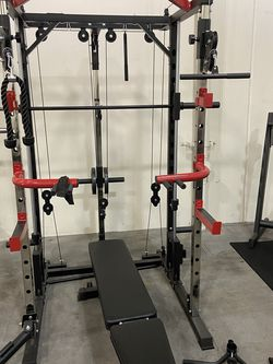 Smith Machine & 240LB Cast Iron Set & Adjustable Bench & 7ft Olympic Bar for Sale in Pico Rivera,  CA