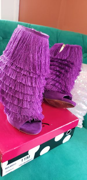 Purple Fringed Ankle Boot. Size 10 for Sale in Prairie Village, MO