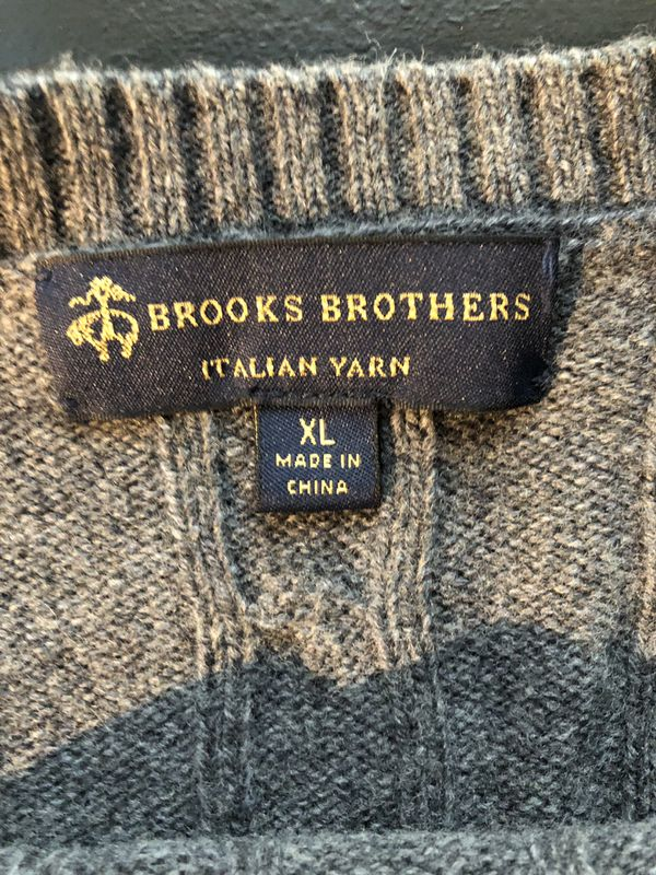 Gray Brooks Brothers Sweater