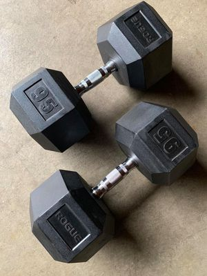 Rogue / hex rubber dumbbells 95 lbs for Sale in Kent, WA