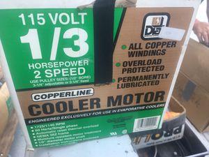 Copper line 1/3 hrs per 2 spd cooler motor for Sale in San Diego, CA