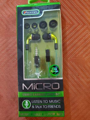 Sentry micro earbuds with mic for Sale in San Antonio, TX